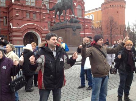 Невидими плакати, Москва, април 2014