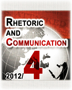 Rhetoric and Communication - 4/2012